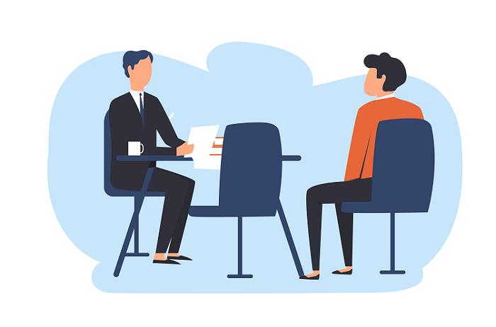 Phỏng vấn trực tiếp cũng là một hình thức để nhân viên mới tự đánh giá bản thân sau thời gian thử việc